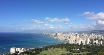 Aussicht vom Diamond Head über Waikiki